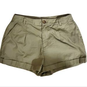 Forever 21 Army Green All Cotton Pull On Shorts M